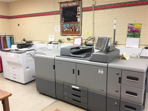 Copier at Teachers Center