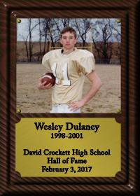 Wesley Dulaney Plaque
