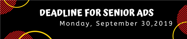 Deadline for Seniors: Monday, September 30, 2019