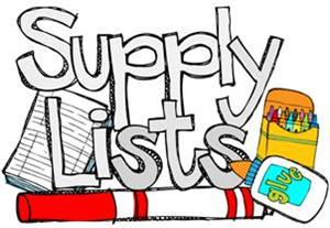 2018-19 School Supply List