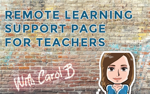remote learning support page for teachers