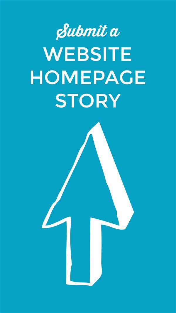 Submit a website homepage story